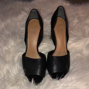 Women's chunky heel, black sz 7.5
